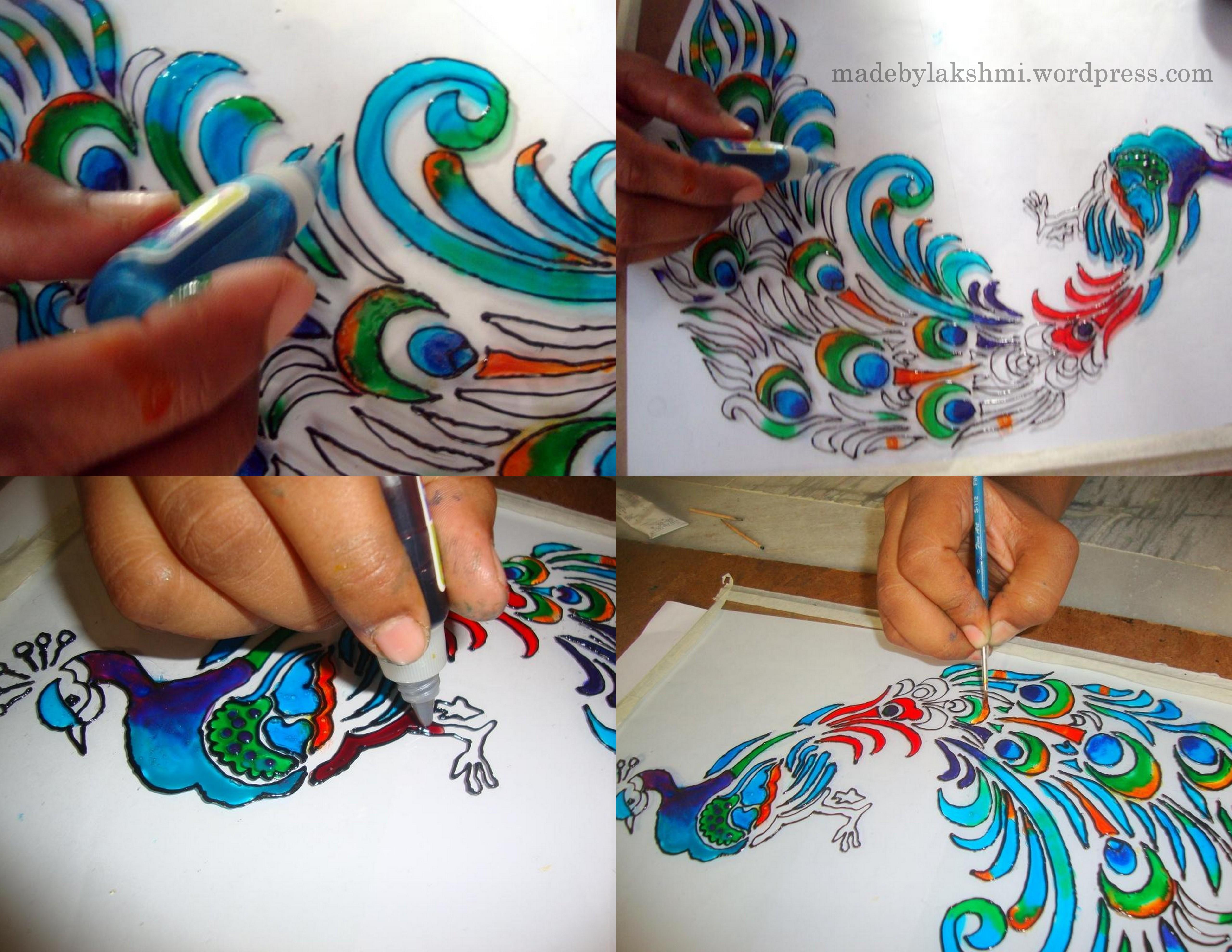 Glass painting tutorial m de by lakshmi - Creative glass painting ideas ...