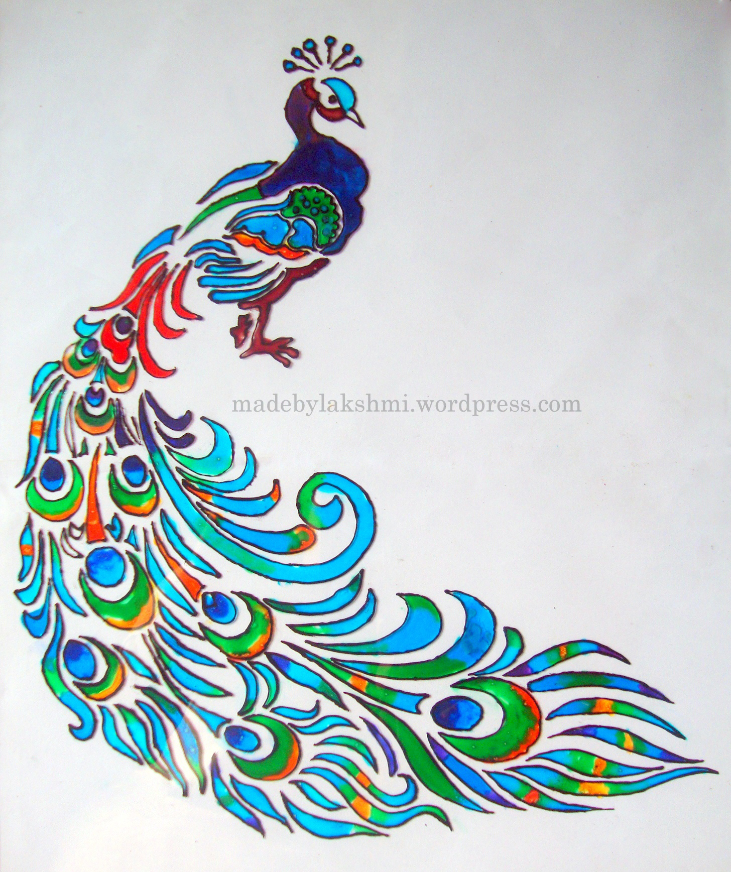 Glass painting tutorial m de by lakshmi for How to design a mural