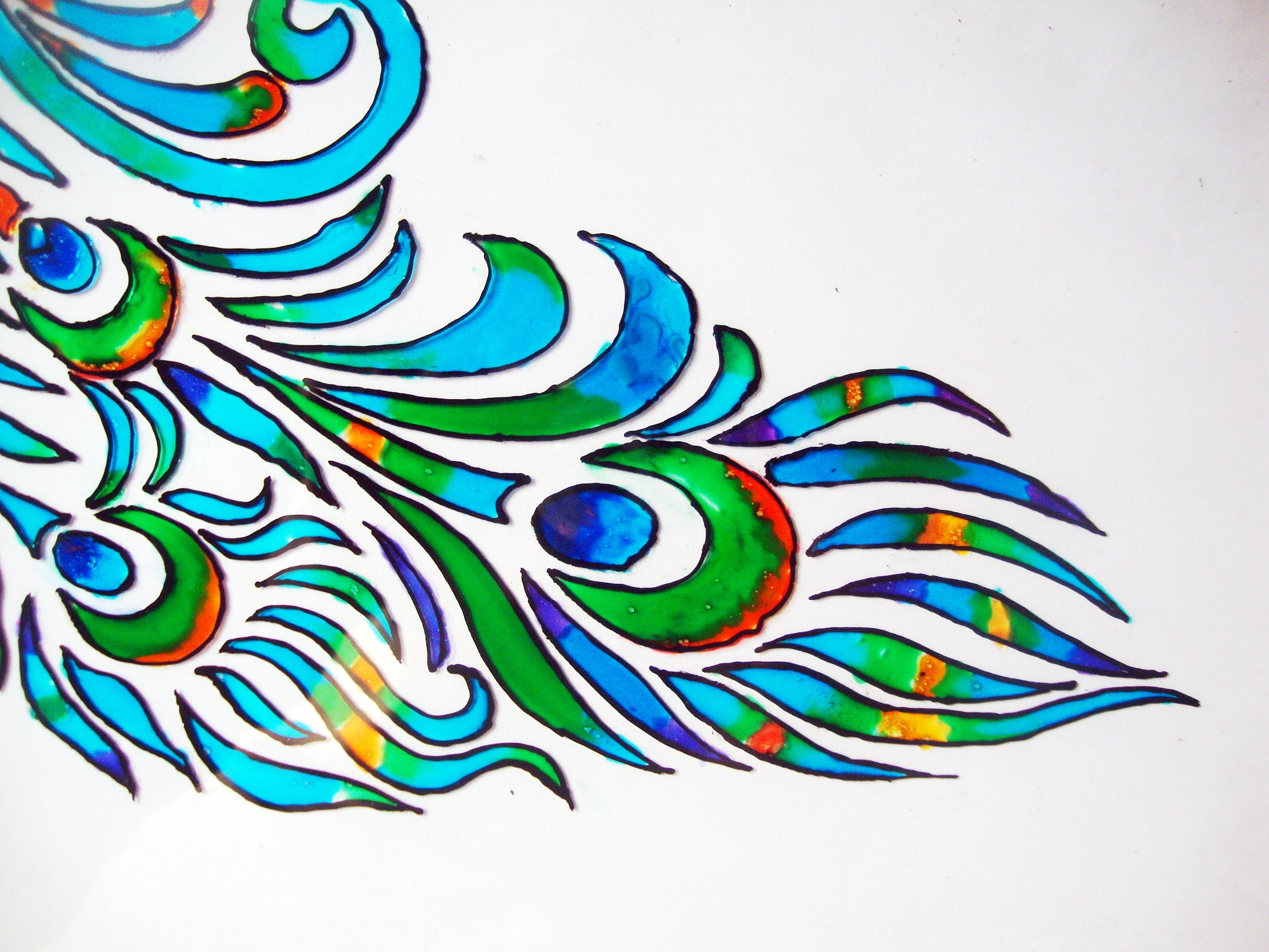 Glass painting tutorial m de by lakshmi for How do i paint glass