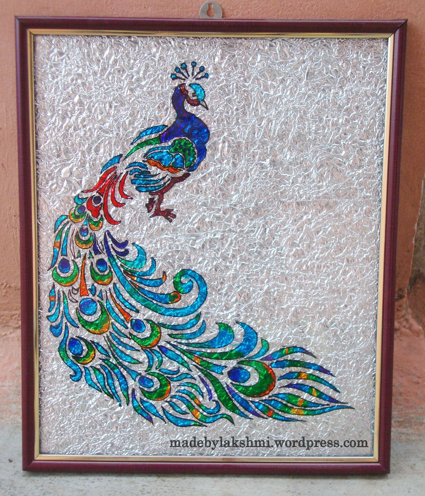 Glass painting tutorial m de by lakshmi for Best glass painting designs