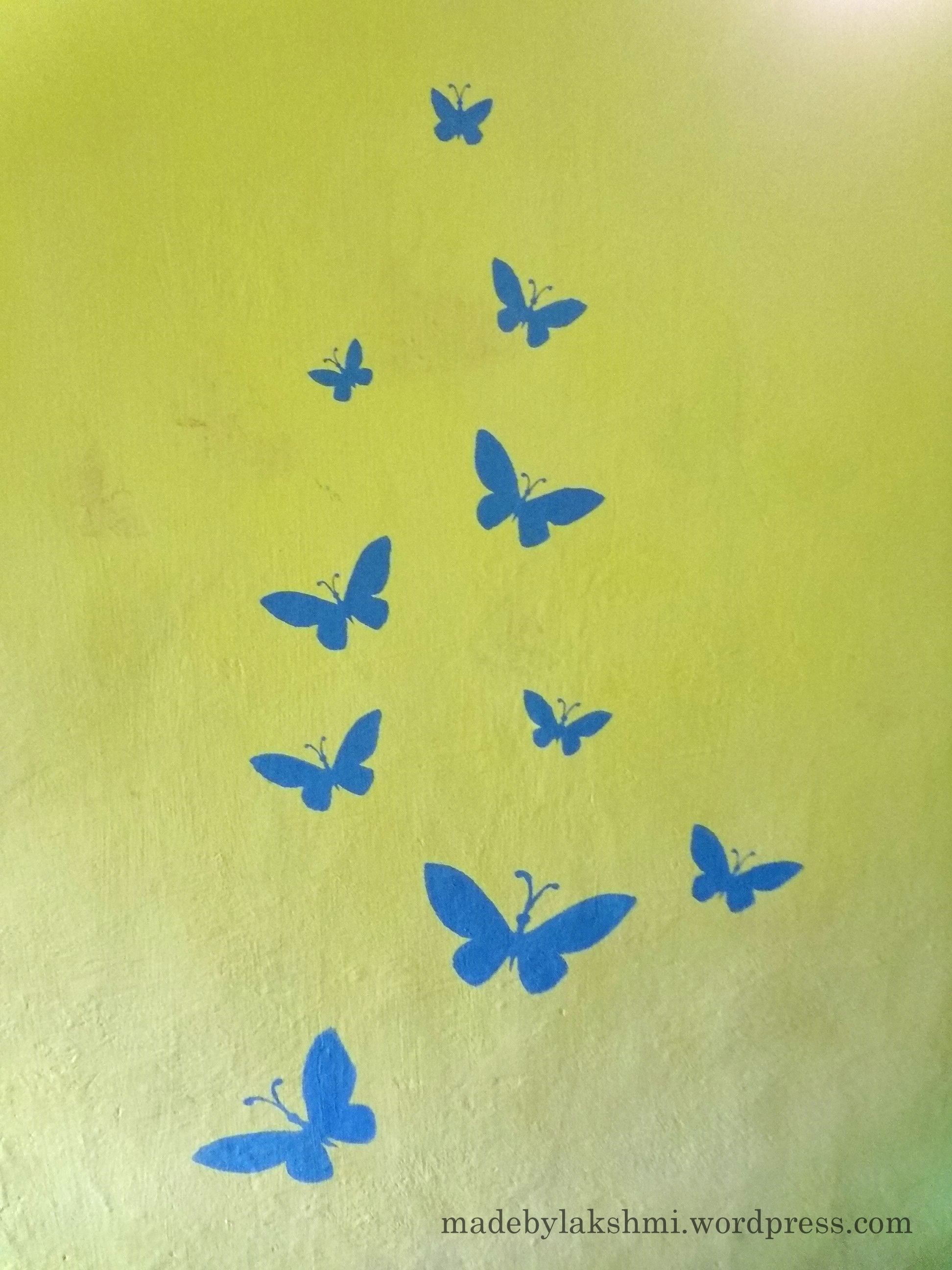 Wall Art – Handmade stenciling a try :-) | M@de by Lakshmi
