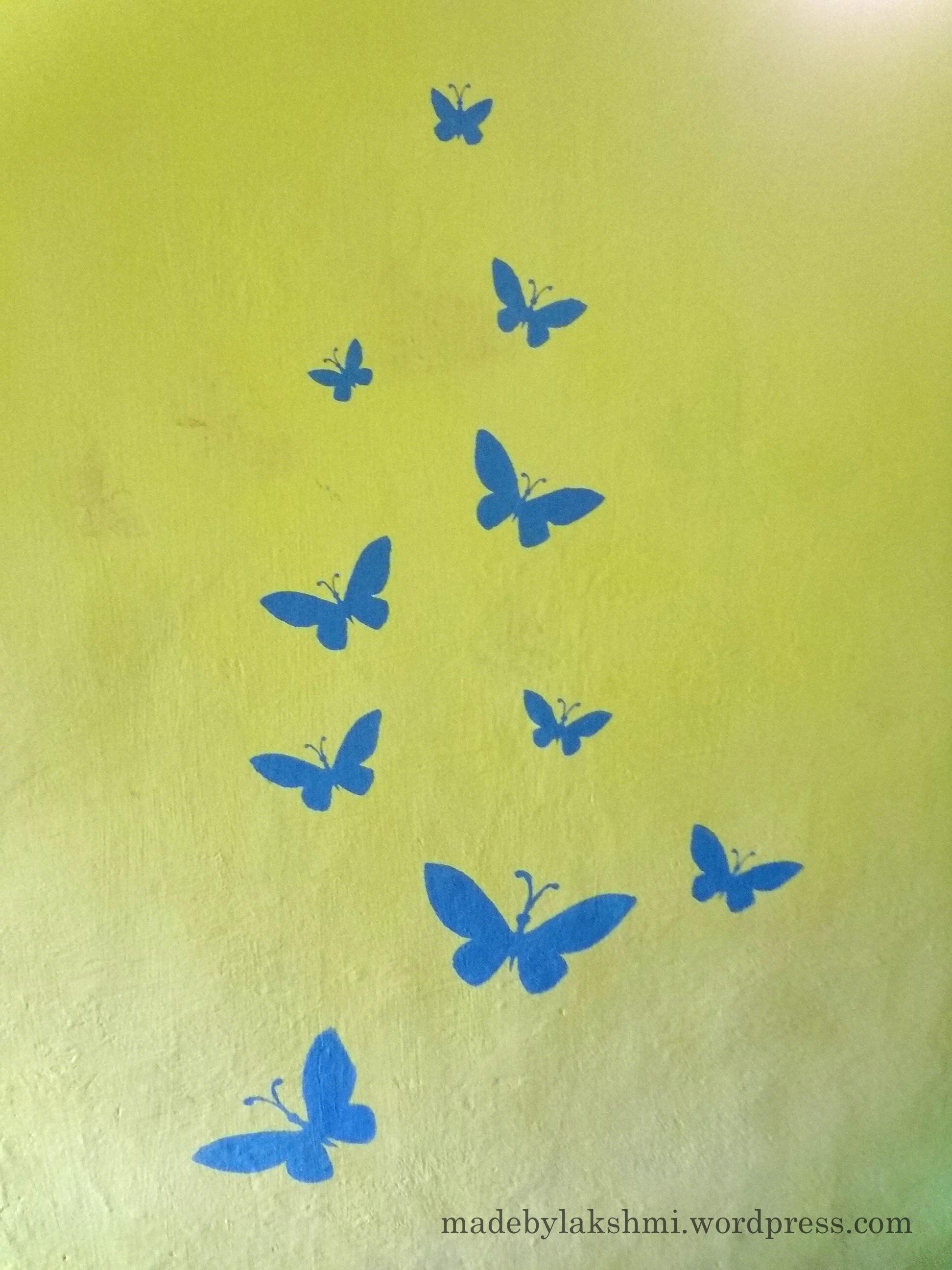 wall art handmade stenciling a try m de by lakshmi