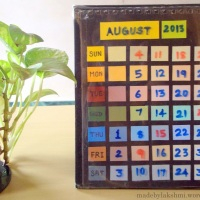 DIY Paint Chip Desk Calendar