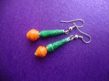 paper bead earring