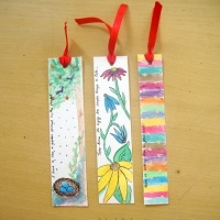 DIY Bookmarks - Water colour paintings
