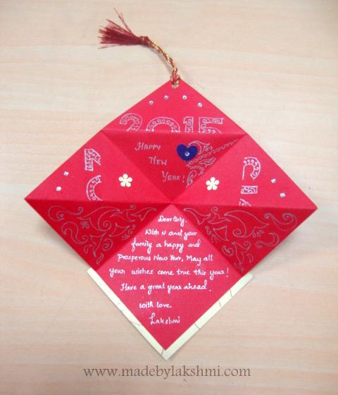 How to make handmade greeting card new year 2015 mde by lakshmi how to make handmade greeting card new year 2015 m4hsunfo